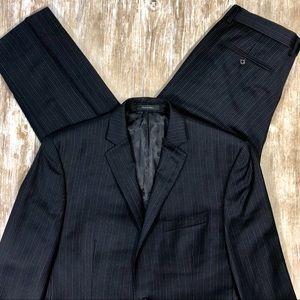 Calvin Klein Mens 2 Piece Pinstripe Suit 40R 34x32